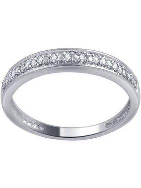 10kt Gold Round Diamond Accent Wedding Band, I-J/I2-I3