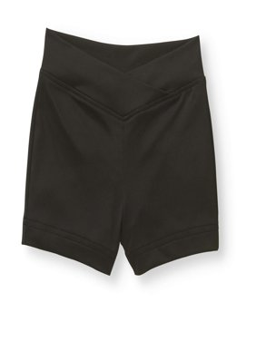 Girls' Premium Nylon Dance Short with Criss Cross Front (Little & Big Girls)
