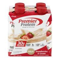 Premier Protein Shakes, Strawberries & Cream, 30g Protein, 11 Fl Oz, 4 Ct