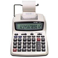 Victor 1208-2 Two-Color Compact Printing Calculator, Black/Red Print, 2.3 Lines/Sec -VCT12082