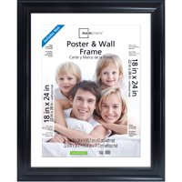 Mainstays 22x28 Matted to 18x24 Wide Poster and Picture Frame, Black