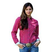 e8b13901 Cruel Girl Western Shirt Womens L/S Arena Pearl Snap Red CTW9381009