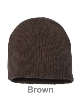 5181a0e2c68 Product Image Slouchy Unisex Waffle Knit Winter Ski Thick   Warm Beanie Hat  - Brown