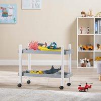 Mainstays Kids 2-Tier Storage Cart, Grey