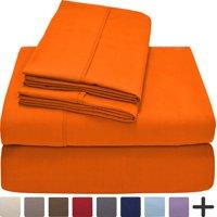 Premium 1800 Ultra-Soft Microfiber Collection Sheet Set - Double Brushed - Hypoallergenic - Wrinkle Resistant - Deep Pocket (Queen, Grey)