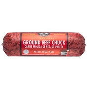 80% Lean/20% Fat, Ground Beef Chuck Roll, 5 lb