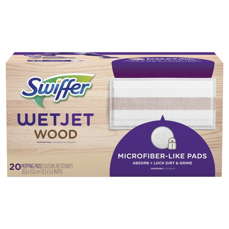 - Swiffer WetJet Wood Mopping Pad Refill, 20 Count
