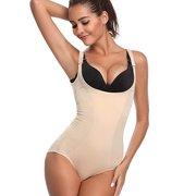bf83d35b8df4 LELINTA Cincher Body Shaper Bodysuit Women Tummy Control Shapewear Open Bra  for Weight Loss
