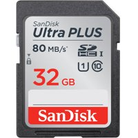 SanDisk 32 GB Ultra PLUS Class 10 UHS-1 SDHC Memory Card