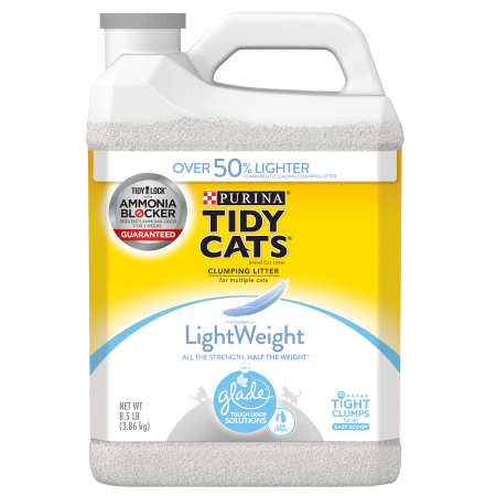 Purina Tidy Cats Light Weight, Dust Free, Clumping Cat Litter, LightWeight Glade Clear Springs Mulit Cat Litter - 8.5 lb.