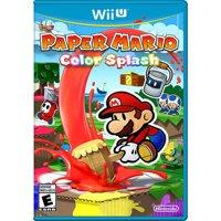Paper Mario Color Splash, Nintendo, Nintendo Wii U, 045496904326