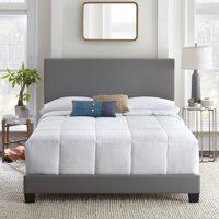 Premier Sutton Upholstered Faux Leather Platform Bed Frame, Multiple Sizes