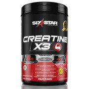 Six Star Pro Nutrition Elite Series Creatine x3 Powder, Fruit Punch, 35 Servings
