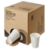 Boardwalk Convenience Pack Paper Hot Cups, 10 oz, White, 261/Carton -BWKWHT10HCUPOP