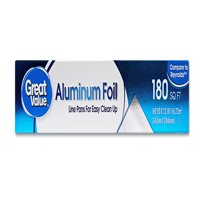 (2 pack) Great Value Aluminum Foil, 180 sq ft