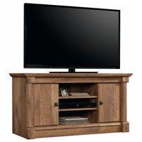 """Sauder Palladia Panel TV Stand for TVs up to 50"""", Vintage Oak Finish"""