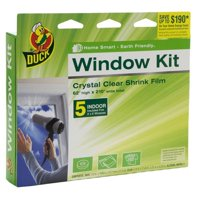 "Duck Brand Indoor Window Insulation Kit, Insulates Five 3' x 5' Windows, 62"" x 210"" Film"