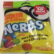 Wonka Nerds Nerds Chewy Sour Med Peg 12x6oz