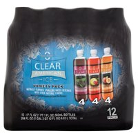 Clear American Ice Sparkling Water Beverage, Variety Pack, 204 oz, 12 pack