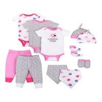 Little Star Organic Baby Girl Baby Shower Essentials Gift Set, 11pc