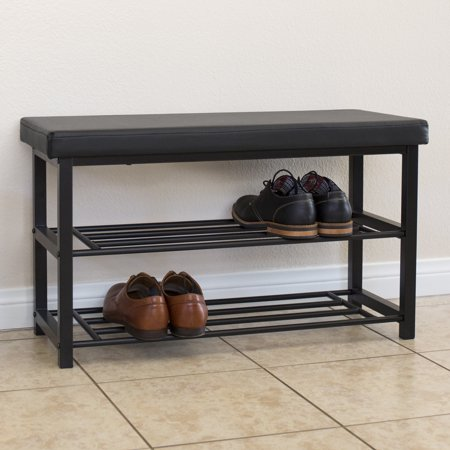 Bench for shoes Black Best Choice Products 2tier 220lb Capacity Steel Metal Storage Bench Shoe Storage Organization Rack Lordofthewebinfo Best Choice Products 2tier 220lb Capacity Steel Metal Storage Bench
