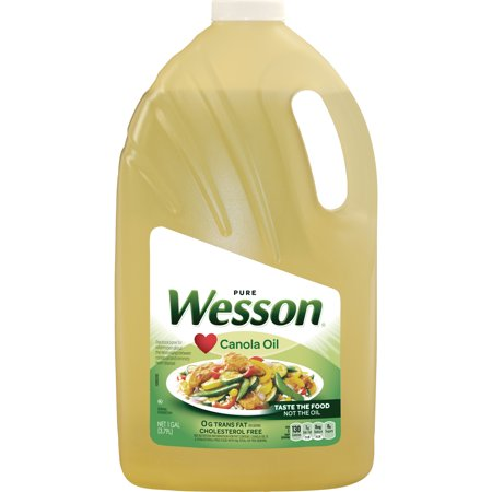 Wesson Pure Canola Oil, 1 Gal (Gal Nat Oil)
