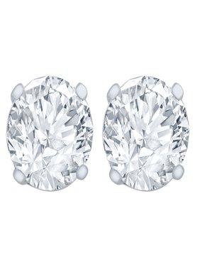 1/4 Carat Diamond Stud Earrings (I2I3 Clarity, JK Color) 14kt White Gold