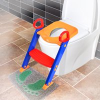 Kids Training Potty Trainer Toilet Seat Chair Toddler With Ladder Step Up Stool