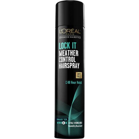 L'Oreal Paris Advanced Hairstyle LOCK IT Weather Control Hairspray 8.25 OZ - Green Hair Spray