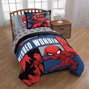 Marvel Spiderman Webbed Wonder Twin Comforter and Sham Set