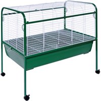 Prevue Pet Products Small Animal Cage with Stand, Green and White