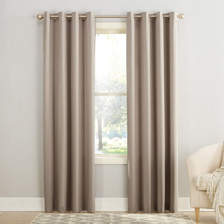 Pink Tab Top Curtains - Sun Zero Madison Room Darkening Grommet Curtain Panel