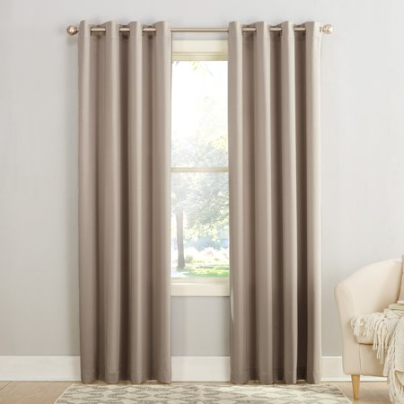 Sun Zero Madison Room Darkening Grommet Curtain Panel Black Double Gang Grommet
