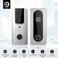 DIGOO 1080P WiFi Wireless Ring Doorbell with Camera ,Waterproof Smart Home Night Visual Video Door Bell,Security Camera Phone App Control, Intercom Alarm Clear Night Vision