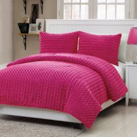 VCNY Home Rose Fur Bedding Comforter Set