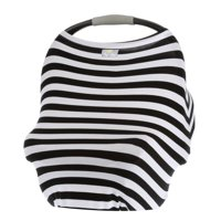 Itzy Ritzy Mom Boss™ 4-in-1 Multi-Use Nursing Cover, Car Seat Cover, Shopping Cart Cover and Infinity Scarf, Black and White Stripe