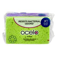 Ocelo Antimicrobial Handy Sponge 3 Pack, Bacteria Odor Resistant