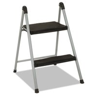 Cosco 2-Step Steel Folding Step Stool with Resin Steps, 200lb Capacity