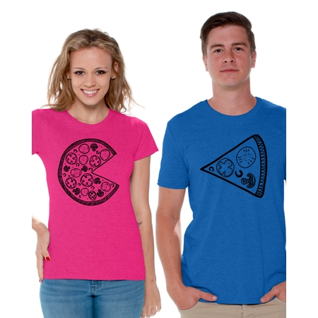 Awkward Styles Pizza Couple Shirts Funny Matching Pizza Shirts for Couples Pizza Slice T Shirt for Couples Valentine's Day Couple Outfits Cute Gift for Pizza Lovers Pizza Couples Matching Shirts](Funny Couples)