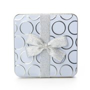 Give-A-Gift Silver Circles Gift Card Holder Tin
