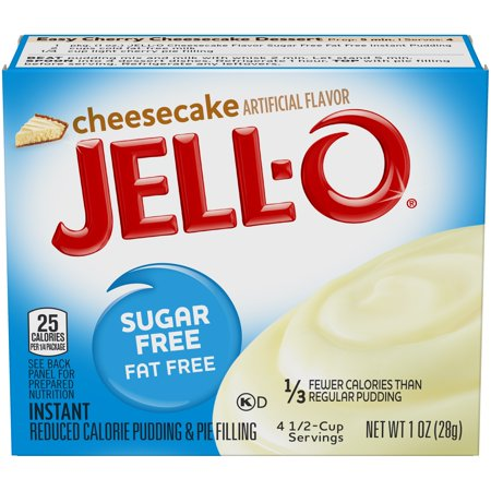 (4 Pack) Jell-O Instant Sugar-Free Cheesecake Pudding & Pie Filling, 1 oz - No Bake Cheesecake Truffles