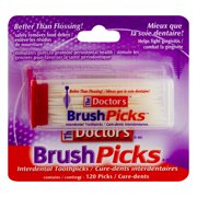 (CN) The Doctor's Brush Picks Interdental Toothpicks - 120 CT