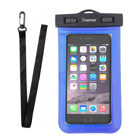 "Waterproof Phone Pouch by Insten Cell phone Waterproof Case Underwater up to 3 meters Carrying Dry Bag with Lanyard for ZTE Majesty Pro Blade ZMax Max XL Spark Maven 3 Universal Max 6.0"" Diagonal"
