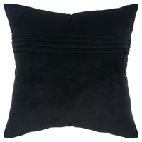 "Rizzy Home Decorative Downfilled Throw Pillow Solid 20""X20"" Black"