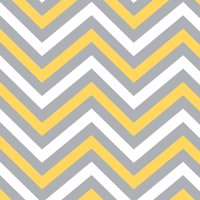 100% Cotton Fabric For Quilting And Crafting By Emma And Mila From The Yellow Matters Collection: Chevron In Grey