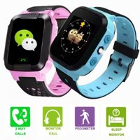 Smart Watch For Kids With Camera GPS Flash Night Light Touch Screen Anti-lost Alarm Compatible For IOS Android