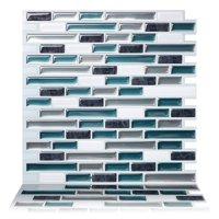 Tic Tac Tiles - Premium Anti Mold Peel and Stick Wall Tile Backsplash in Como Bay (1 Tile sheet)