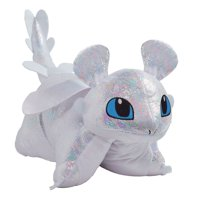 "Pillow Pets NBCUniversal How to Train Your Dragon Light Fury 16"" Stuffed Animal Plush Toy"