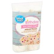 Great Value Birthday Bash Ice Cream Cups, 3 fl oz, 12 ct