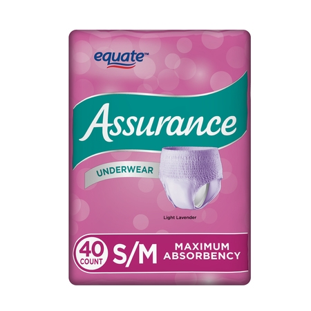 Assurance Incontinence Underwear for Women, Maximum, S/M, 40 (Best Underwear For Incontinences)